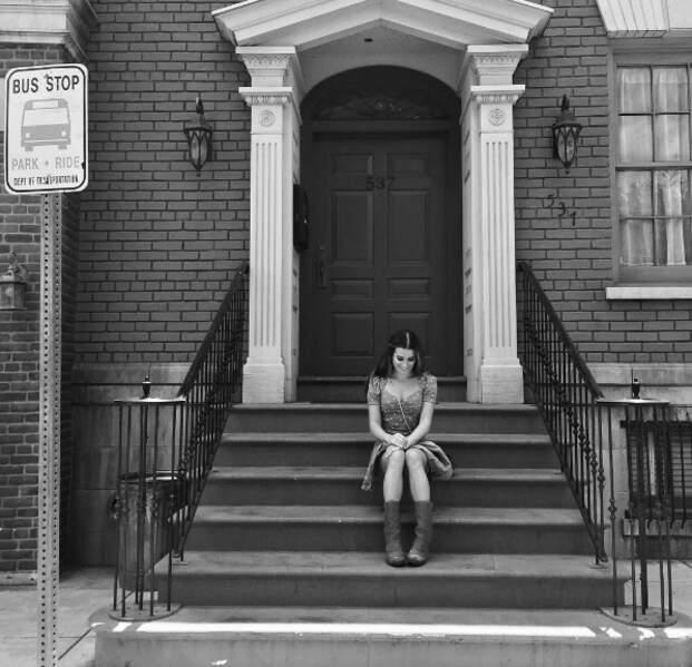 Lea Michele en plein tournage de la série Dimension 404.