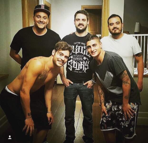Marco Verratti et ses copains tatoueurs