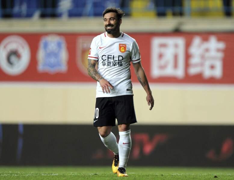 4e : Ezequiel Lavezzi (Hebei China Fortune FC), 26 millions d'euros par an