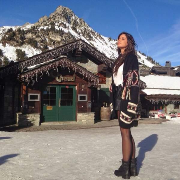 Direction le ski pour Malika Ménard.