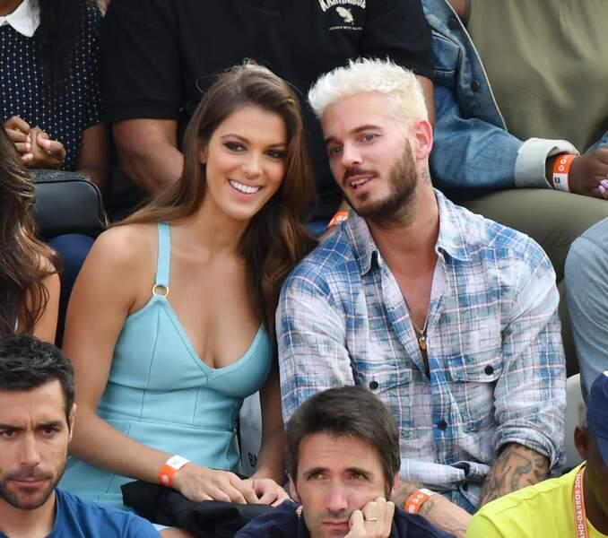 Iris Mittenaere et Matt Pokora, très complices dans les tribunes de Roland-Garros