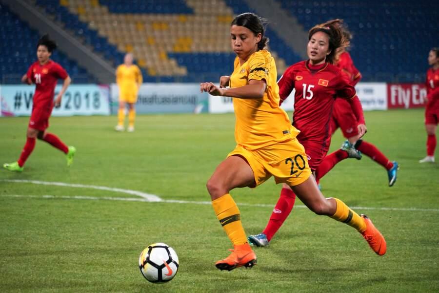 Samantha Kerr, meilleure joueuse australienne et l'une des plus cotées au monde