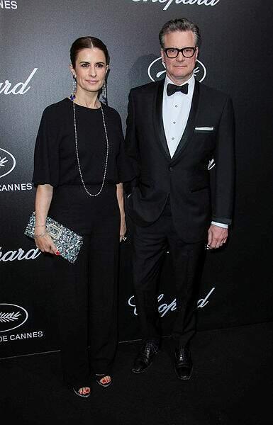 Colin Firth et sa compagne Livia Giuggioli, très chics