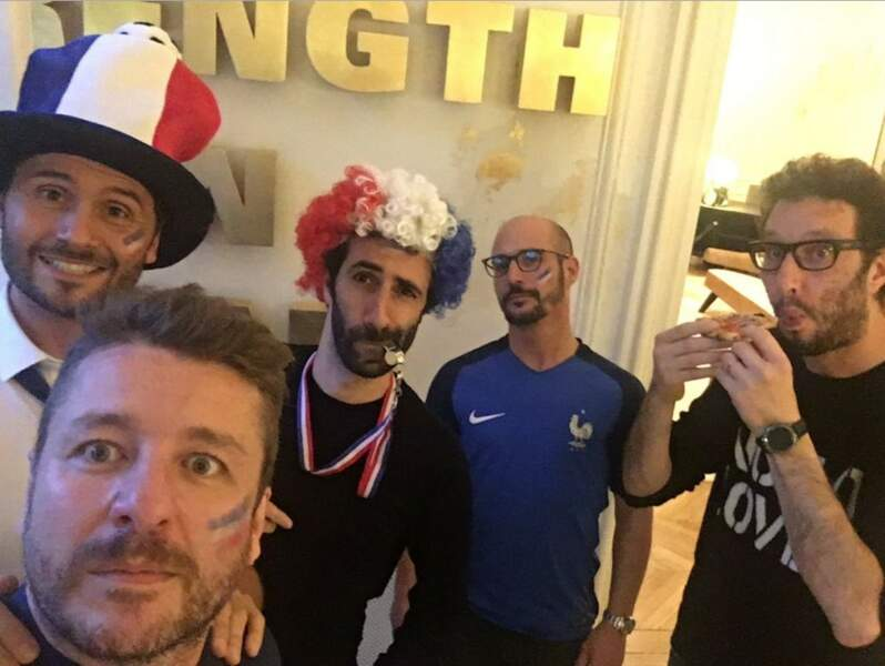 Bruno Guillon, Christophe Beaugrand et Cartman, parfaits supporters