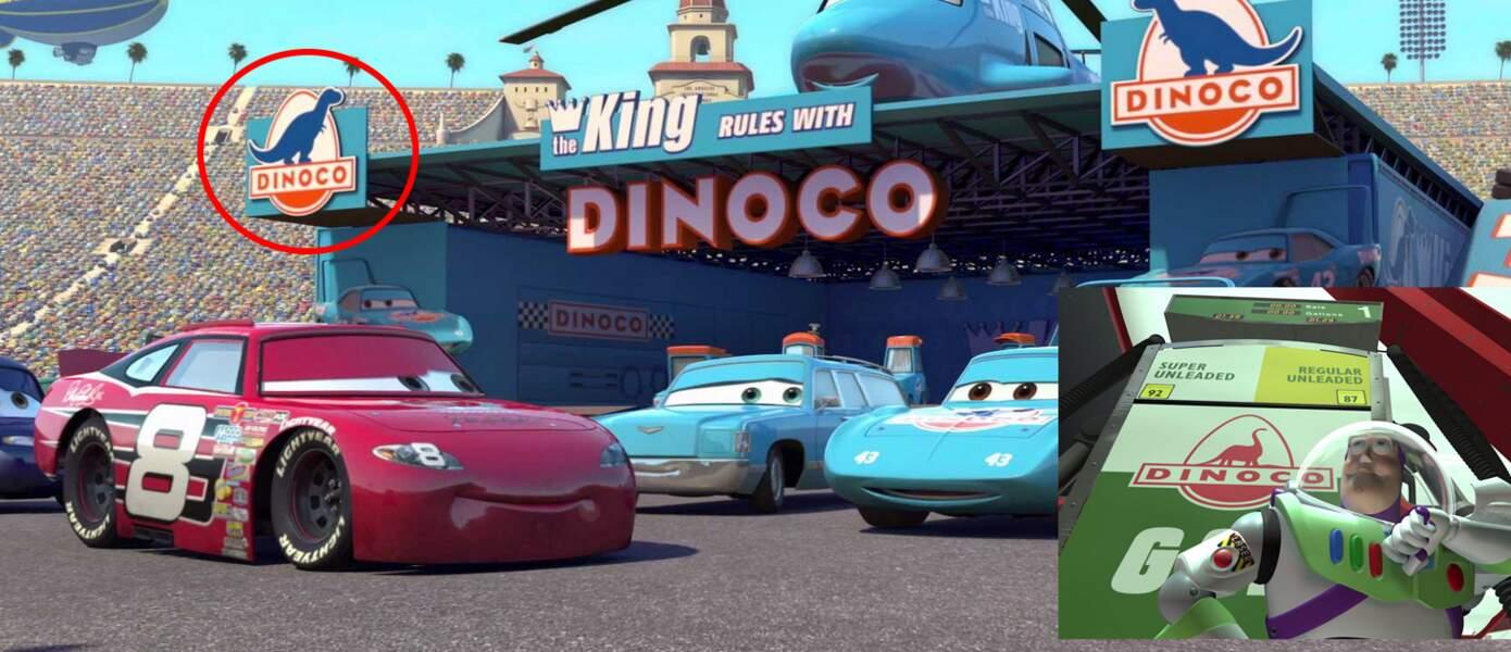 Cars : L'écurie de course Dinoco est aussi la marque d'une station essence dans Toy Story