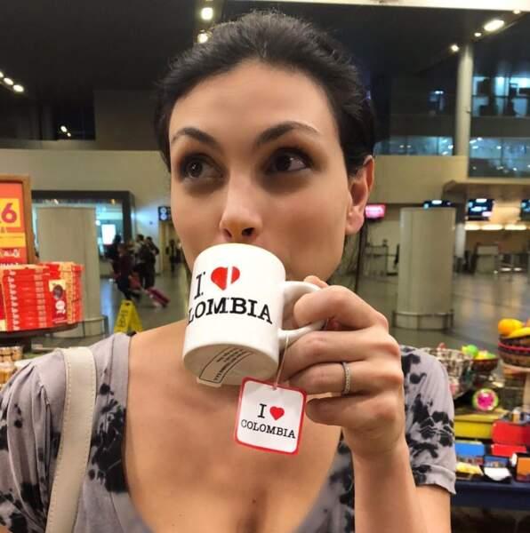 On vous laisse deviner dans quel pays se trouvait Morena Baccarin.