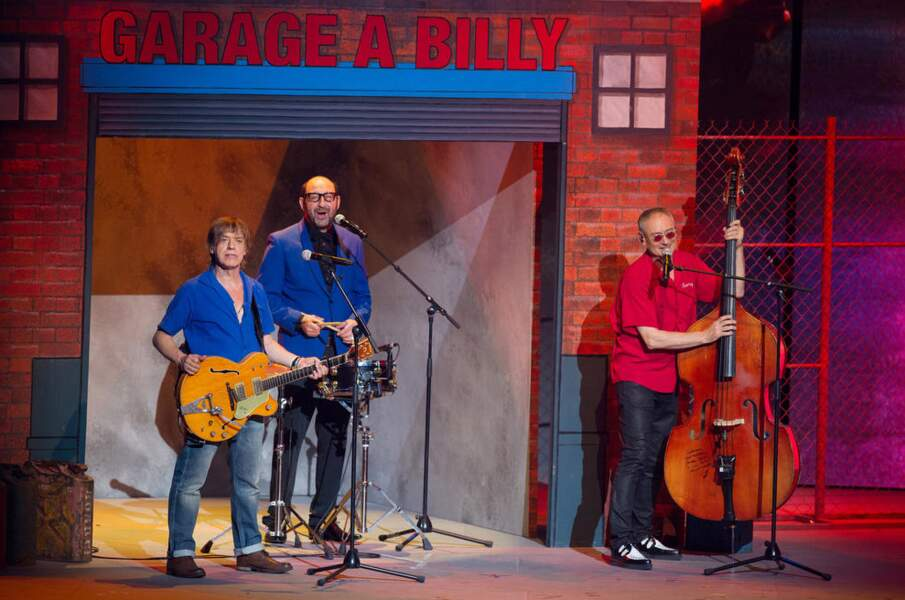 Ambiance garage à Billy aux Enfoirés 2014
