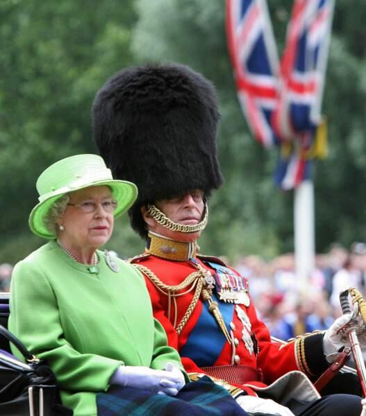 ... ou gris et humide comme lors de la célébration militaire Trooping the colors qui a lieu chaque année en juin