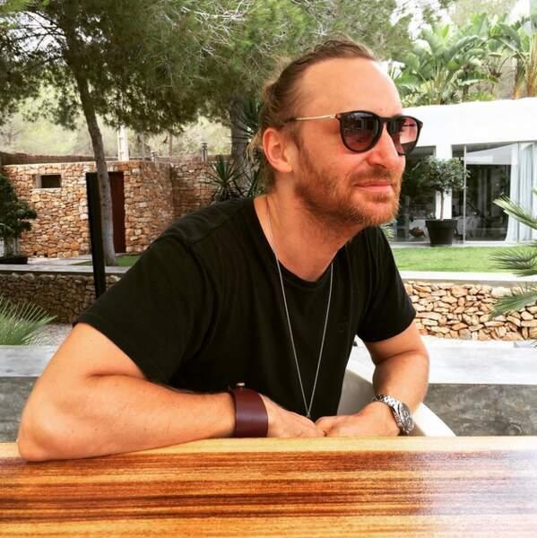 David Guetta aussi était à Ibiza (mais sans le sport).