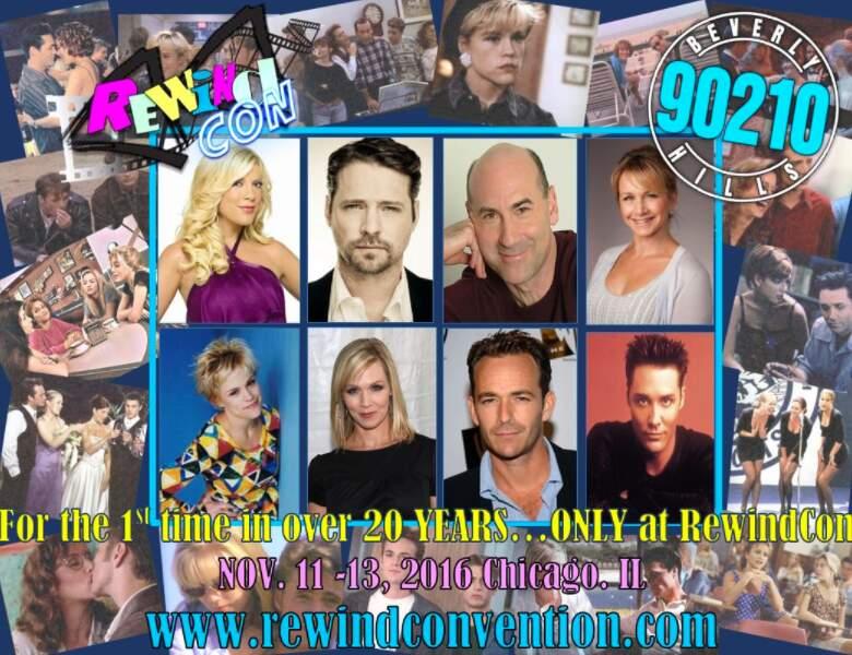Ce week-end, la Rewind Con célébrait Beverly Hills, 90210. Huit acteurs de la série ont répondu présent