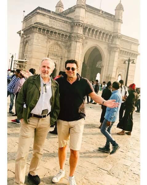 Pendant ce temps-là, Patrick Bruel et Fabrice Luchini posaient ensemble en Inde.