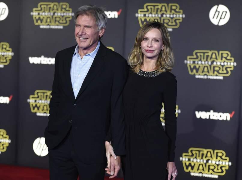 Harrison Ford fait faux bond à Chewbacca pour retrouver sa femme Calista Flockhart