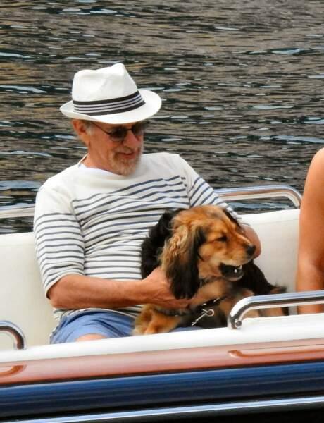 Steven Spielberg ne quitte pas son meilleur ami à Portofino.