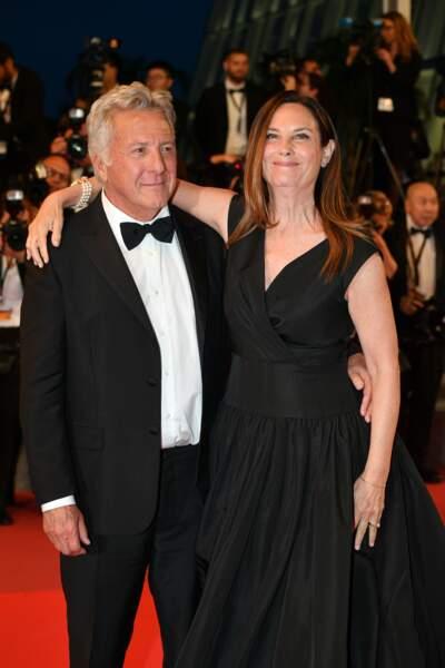 Dustin et Lisa Hoffman, vedettes de la présentation de The Meyerowitz Stories en compétition