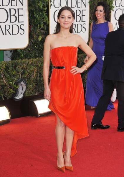 Marion Cotillard, pourtant assortie au tapis rouge, est repartie bredouille.