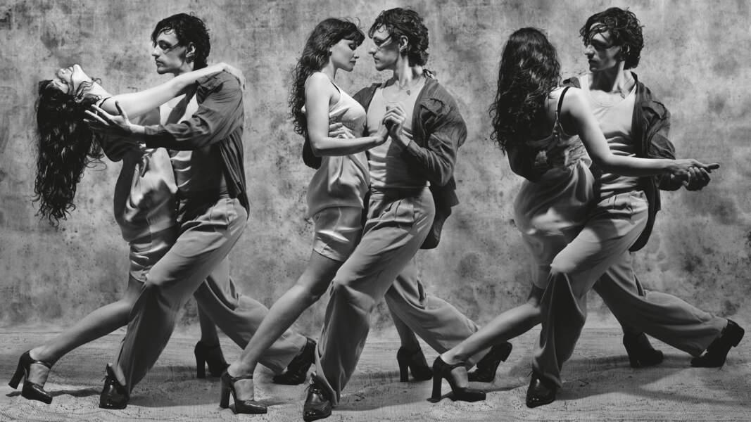 Mais notre chouchoute n'est que Laetitia Casta, en plein tango avec le danseur classique Sergei Polunin.