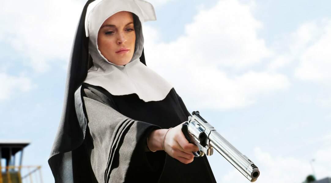 Elle se lâche en nonne armée d'un 357 Magnum dans la comédie d'action Machete (2010) de Robert Rodriguez.