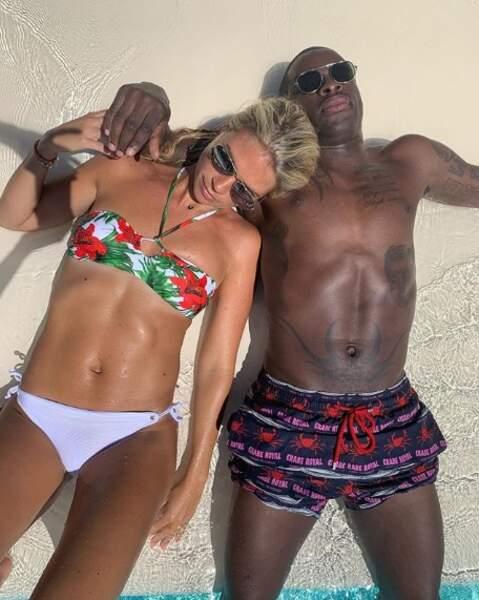 Et Rio Mavuba a fait bronzette avec sa femme Elodie à Saint-Tropez.
