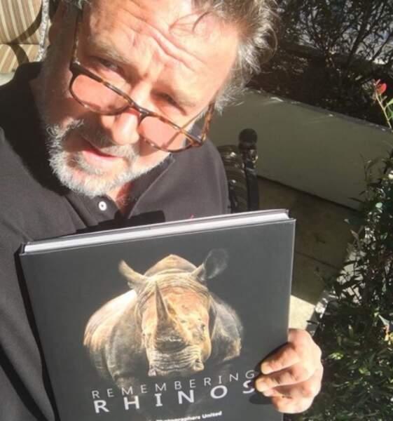 Russell Crowe déclarait son amour pour les rhinocéros.