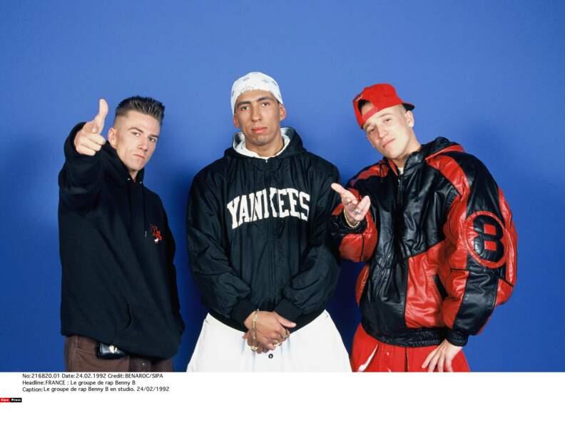 1992 : Le groupe de rap Benny B est en studio...
