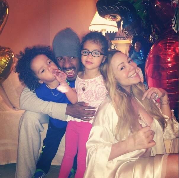 Mariah Carey et ses enfants ont souhaité une joyeuse fête à Nick Cannon... en toute décontraction bien sûr !