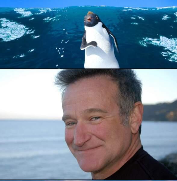 Robin Williams prêtait sa voix au film d'animation Happy Feet en 2006
