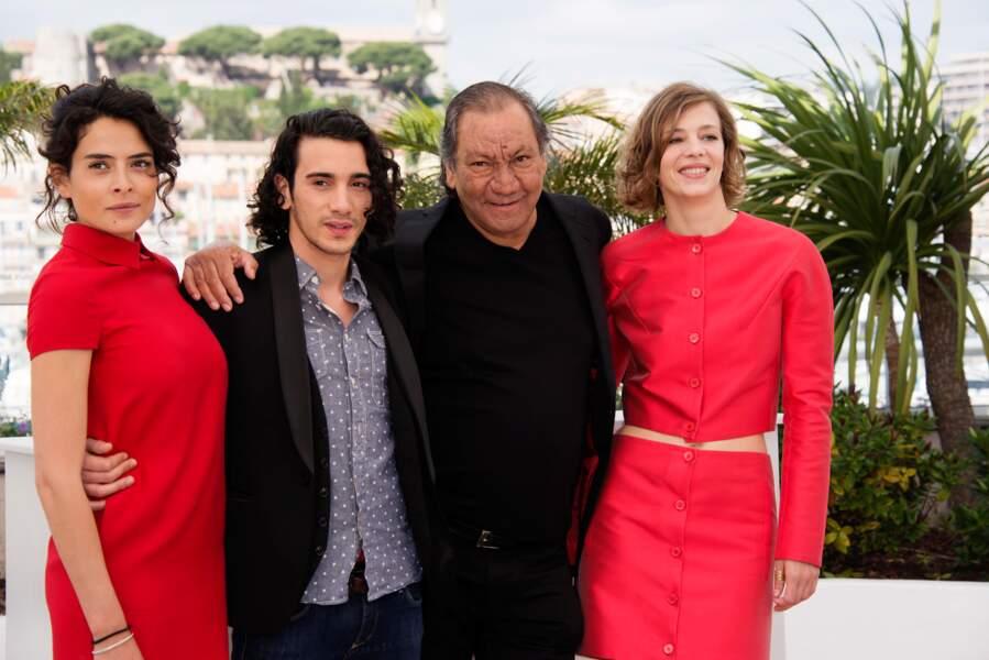 Nailia Harzoune, Rachid Youcef, Tony Gatlif, Celine Sallette lors du photocall de Geronimo.