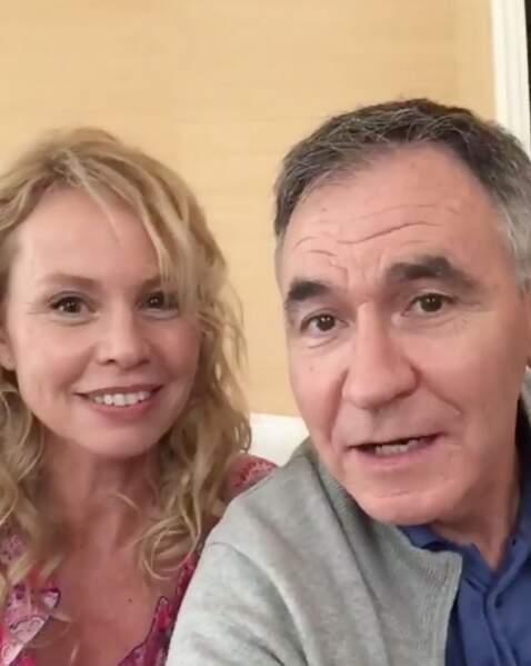 Carole Richert et Jean Dell, alias Marie-France et Michel Brimont