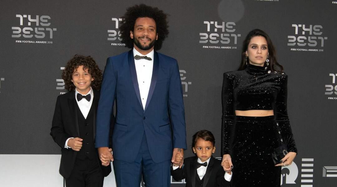 Marcelo, l'arrière gauche du Real Madrid, et sa femme Clarisse Alves