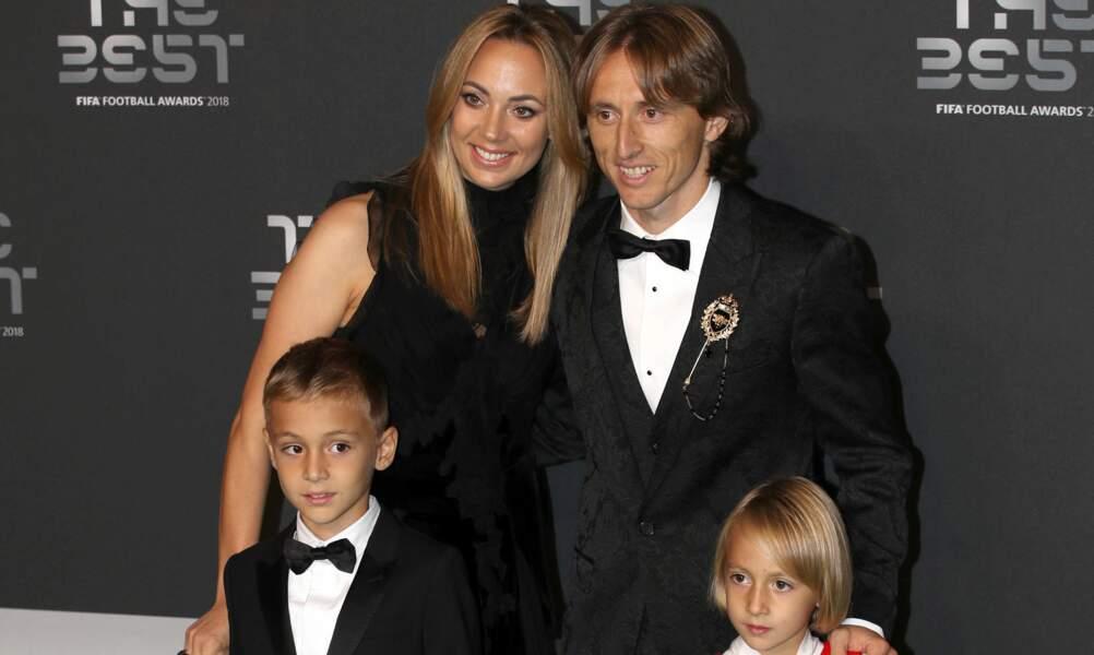 Luka Modric et sa femme Vanja Bosnic