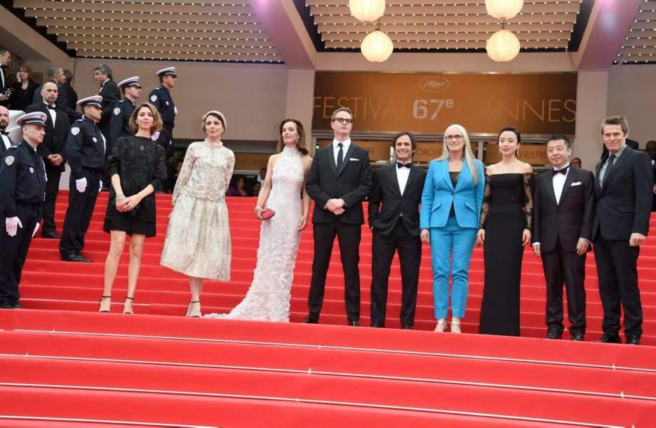Le jury du Festival au complet avec sa présidente, la réalisatrice Jane Campion.
