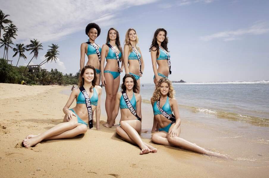 Miss Mayotte, Miss Corse, Miss Lorraine, Miss Côte d'Azur, Miss Champagne, Miss Midi Pyrénées, Miss Guadeloupe