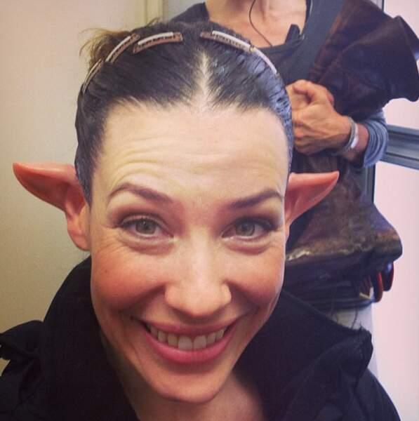 Elle est d'ailleurs très heureuse d'avoir des oreilles pointues