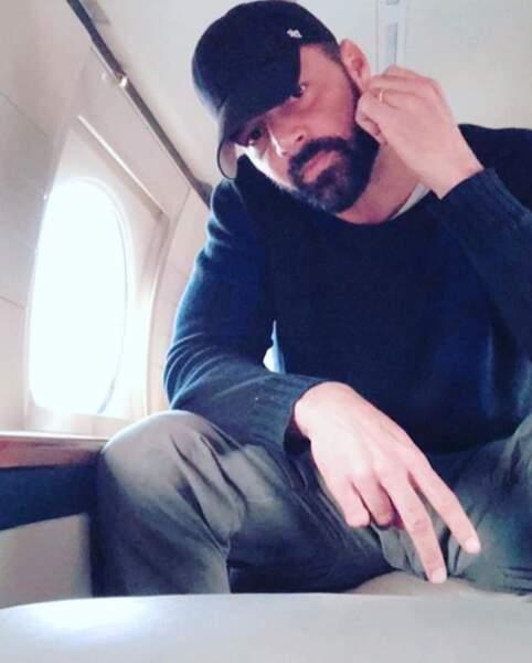 Ricky Martin dans son jet privé