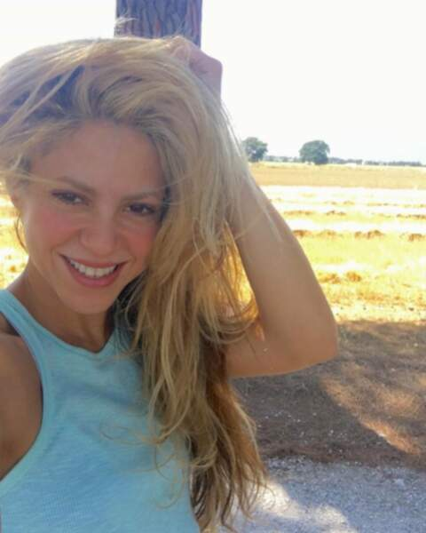 Shakira en mode nature