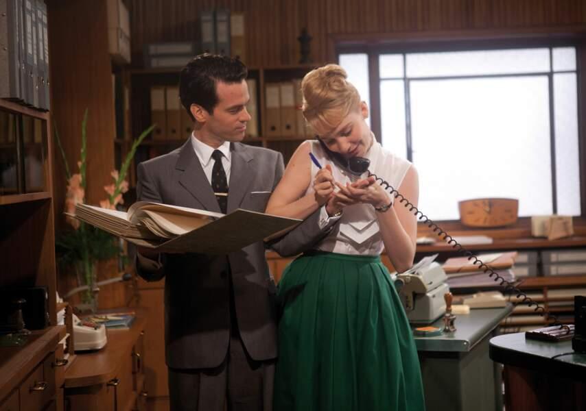 Look fifties dans Populaire (2012), film romantique et... dactylographique !