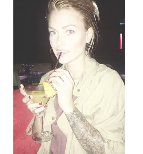 Entre spa et cocktails, la blogueuse s'est bien amusée