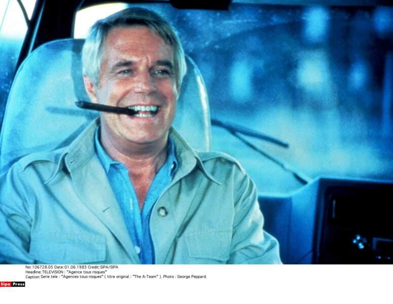 Chef de l'Agence, le Hannibal original est incarné par le vétéran George Peppard