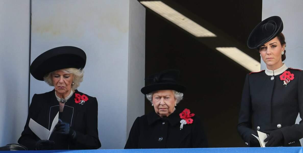 La famille royale d'Angleterre commémore l'Armistice du 11 novembre à Londres