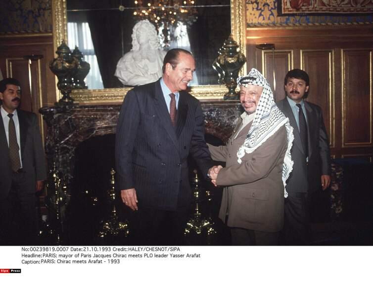Yasser Arafat, leader du Mouvement de libération de la Palestine
