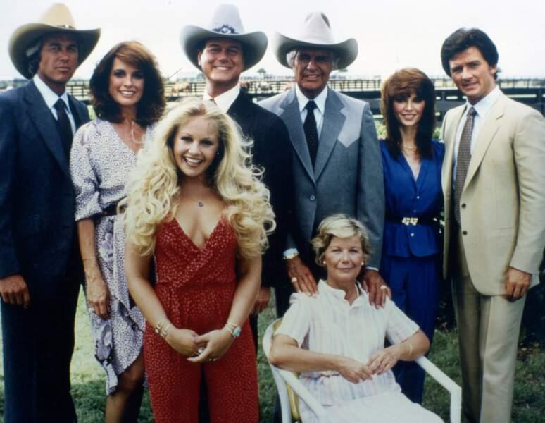 La famille Ewing : Jim Davis, alias Jock, décédé en 1981, et Miss Elie, jouée par Barbara Geddes, disparue en 2005