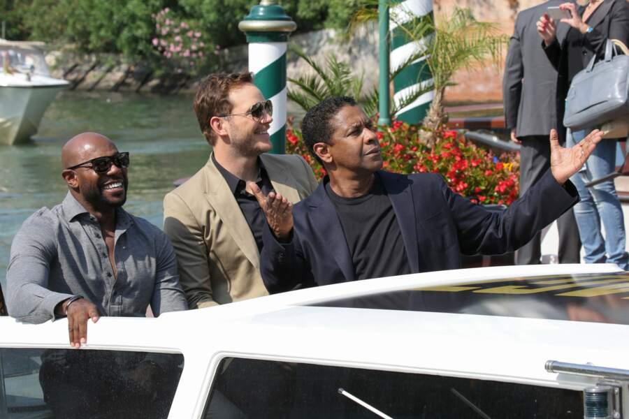 Chris Pratt, Denzel Washington et Antoine Fuqua sont sur un bateau...