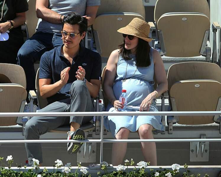 L'acteur Frédéric Chau et son épouse. Le couple va bientôt accueillir leur deuxième enfant.