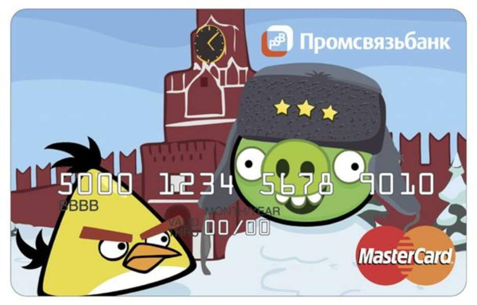 Carte bancaire Angry Birds (Russie)