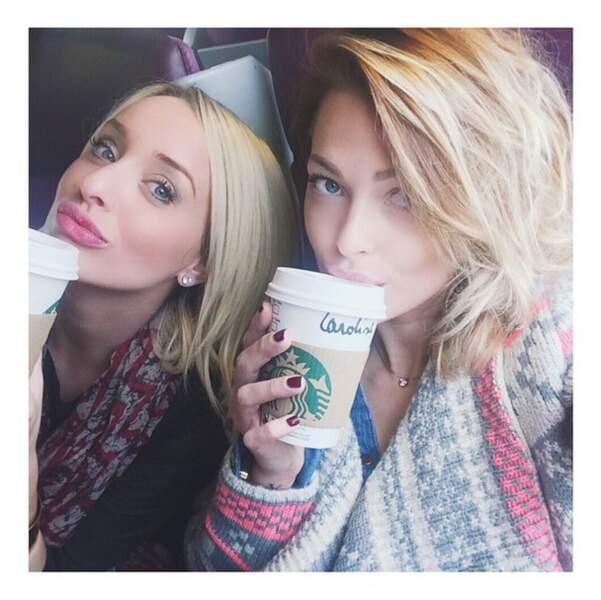 Selfie Starbucks indispensable dans le train