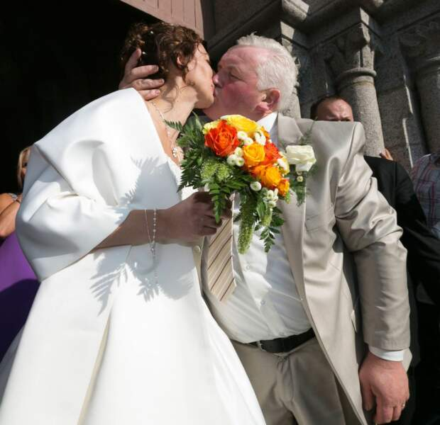 Le baiser des mariés !