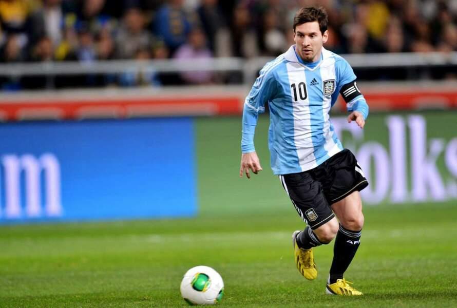 Le footballeur argentin Lionel Messi, 26 ans (lui aussi, vous l'avez certainement déjà aperçu dans des pubs)