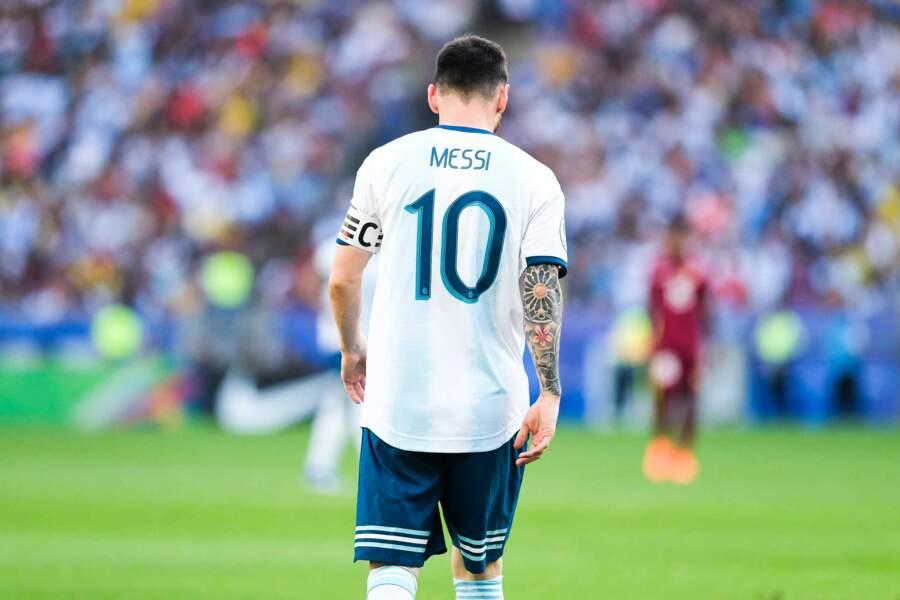 Comme l'une de ses idoles, Lionel Messi