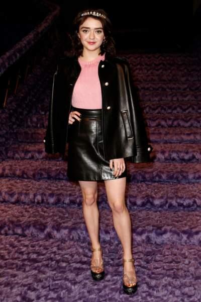 Au même moment, une autre star de Game of Thrones était à Paris : Maisie Williams !