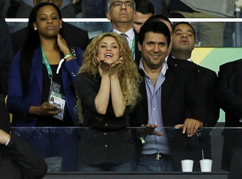 La chanteuse Shakira meilleur soutien pour son footballeur de mari Gerard Piqué